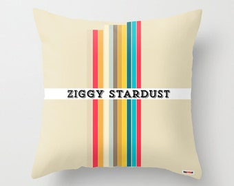 David Bowie Pillow cover - Ziggy Stardust pillow- Modern pillow - Music gifts - Gifts for men- Gifts for boyfriends