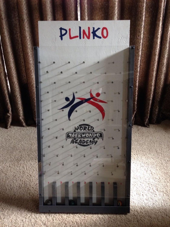 Custom logo plinko board by greenwrapz on etsy for Plinko board dimensions
