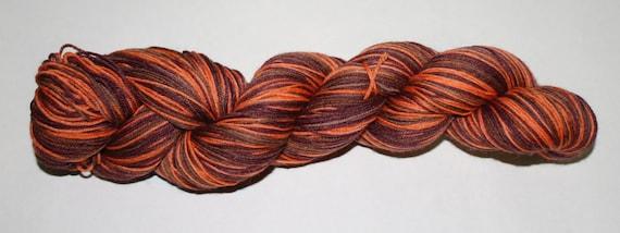 Pumpkin Spice Mocha Self-Striping Hand Dyed Sock Yarn