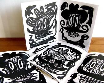 13 COWBOYS art book, art zine, illustration, drawing, zine, small book, for men, art brut, bad art, outsider art, cowboys, mustache