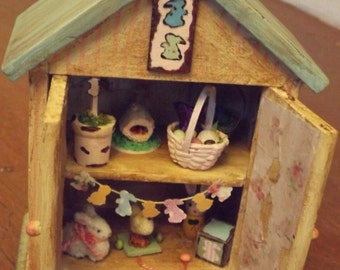 Miniature Easter cabinet