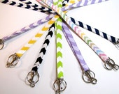 Fabric Lanyards Chevrons & Solid Colors 1/2 or 3/4 Inch Wide, Teacher Lanyard, Teacher Appreciation Gift, Nurse Lanyard, Student Lanyard