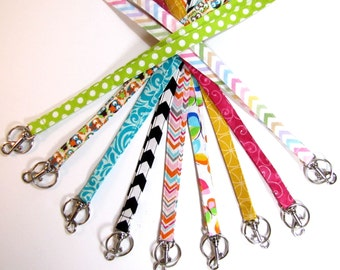 Fabric Lanyards 1/2  or 3/4 Inch Wide Chevron Lanyards, Teacher Lanyard, Nurse Lanyard, Business Lanyard, Owls, Birds, School Bus, Camo