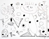 """Whimsies, Drawing 187 (9"""" x 12"""")"""