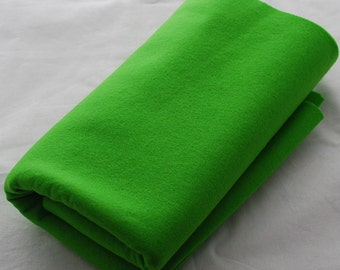 100% Pure Wool Felt Fabric - 1mm Thick - Made in Western Europe - Bright Lime Green
