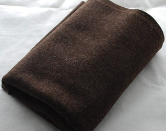 100% Pure Wool Felt Fabric - 1mm Thick - Made in Western Europe - Dark Brown Mix