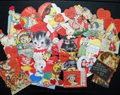 Vintage Lot of 20 Valentine's Day Cards, Many Unused, Some Mechanical