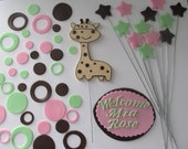 Giraffe Baby Shower Fondant Cake Toppers - Complete Set Fondant Cake Decorations