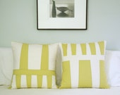 Modern throw pillow set - Zucchini & Natural - Special Price