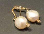 12mm cultured pearl earrings