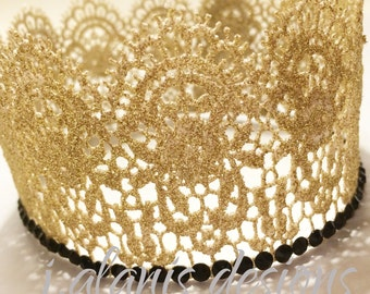 Glitter Gold Crown