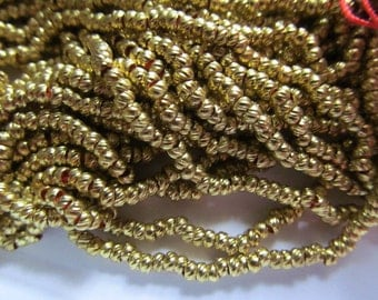 Vintage Gold Over Brass French Torse Beads