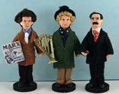Marx Brothers Doll Set Miniature Art Collectibles Old Hollywood Comedy
