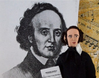 Felix Mendelssohn Classical Music Composer and Pianist Romantic Era Doll Miniature