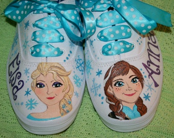 Girl's Custom Painted FROZEN Inspired Shoes Any Size