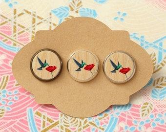 10 pcs handmade hummingbird - earrings, pendant, ring - 12mm (PW-044)