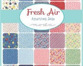 FRESH AIR - Moda Fabric Charm Pack - Five Inch Quilt Squares Quilting Material Blocks