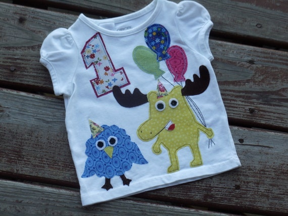 Girls size 18 mth * CLeARANCE SaLE REaDY 2 ShIP * Moose and Zee 1st Birthday shirt Nick Jr.