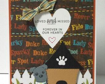 Dog Sympathy Card- blank
