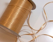 Gold Ribbon, Double-Faced Old Gold Satin Ribbon 1/8 inch wide x 10 yards, Offray Ribbon