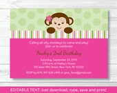 Pink Monkey 1st Birthday ...