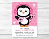 Penguin Snowflake Birthda...