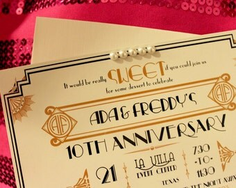 100 Gatsby Flat Card Invitations