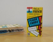 Vintage French Phrase Sentences Flash Cards - Boxed Set 1959