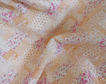 crib and/or lap  whole cloth quilt - REDUCED