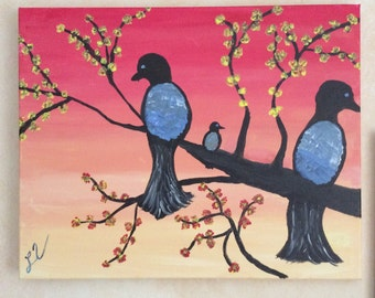 Birds Take Flight Painting