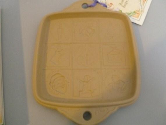 Brown Bag Cookie Art Ceramic Christmas Shortbread Pan Mold