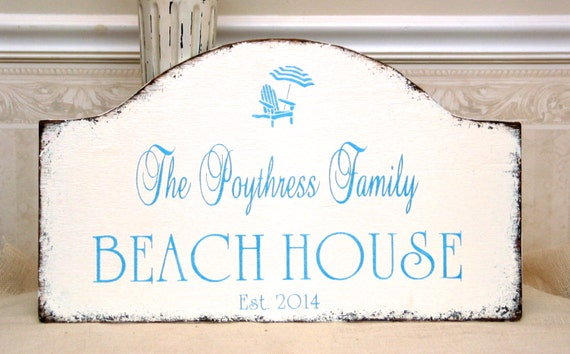 Personalized Family Name Beach House Sign | Handmade Decor Ideas For Decorating A Beach House