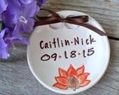 Lotus Flower Ring Bearer Bowl, Zen Wedding, Wedding Ring Bowl, Wedding Ring Holder, Ring Pillow, Personalized Ring Dish, Ring Warming