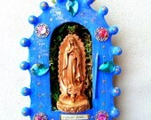 May You Be a Conduit of Infinite Love -Divine mother Mary/Guadalupe shrine nicho wall art