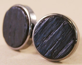 Whiskey Barrel Cufflinks - Handcrafted from the staves of a whiskey cask