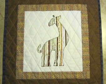 GIRAFFE Mini Selvage Quilt Collection from Quilts by Elena Wall Hanging Table Topper Selvages