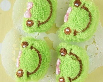 4 pcs Kawaii Mini Frog Face Doll Applique (22mm33mm) MK009 (((LAST)))