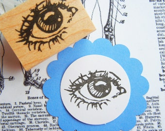 Human Eye Anatomy Rubber Stamp  -  Handmade rubber stamp by Blossom Stamps