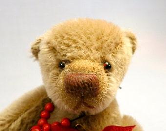 "Artist mohair bear named ""Stew"""