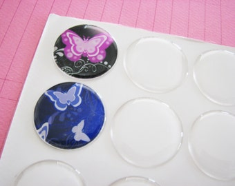 40  ....   1 inch Circle Round Epoxy Stickers Domes  for Pendants Bottle Caps Magnets 25mm Peel & Stick