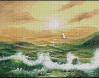 BEFORE THE STORM cross stitch pattern No.354