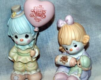Group of 2 Collector Club Enesco Precious Moments Figurines Birthday Club