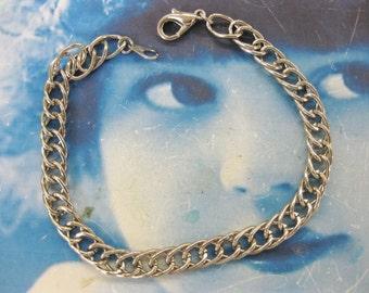 Imitation Rhodium Chain Link Bracelet Great for Charms 884RHO x1