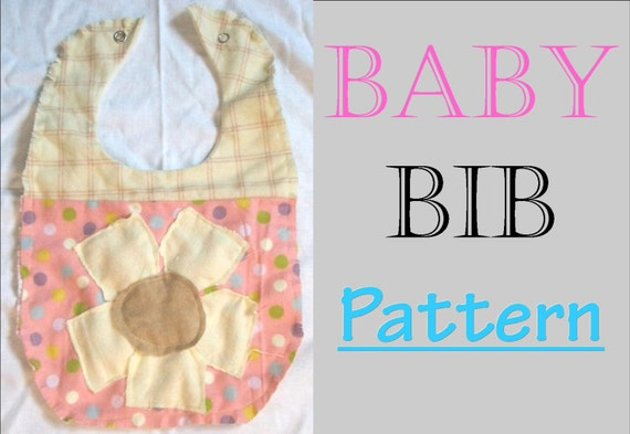 the best baby bib pattern with flower applique
