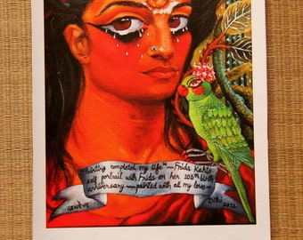 Self Portrait with Frida CANVAS print