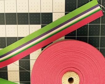 "Sweet Tart Stripe Ribbon 1.5""- Pick your length"