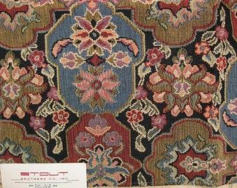 Stout Helena Floral Tile Medallion Tapestry Designer Fabric Sample Gorgeous