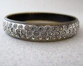 vintage 1930s celluloid & rhinestone bangle bracelet