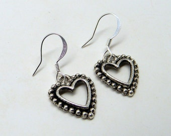 Steampunk earring. Heart earrings.