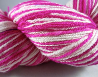 Candy Stripe Hot Pink Hand Painted Sock Yarn